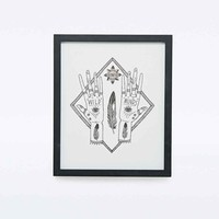 Pony Gold for Urban Outfitters Wild Minds Framed Wall Art - Urban Outfitters