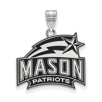 NCAA Sterling Silver George Mason U Medium Enamel Pendant