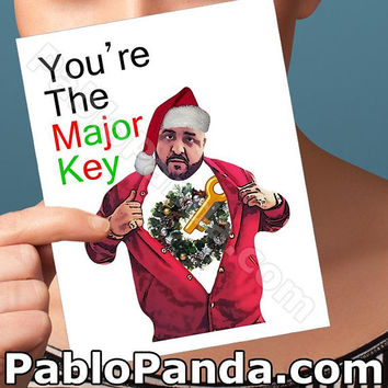 Holiday Cards | Dj Khaled | They Dont Want You Xmas Card Santa Claus Boyfriend Gift Funny Wife Card Boyfriend Card Christmas Cards Men Gift