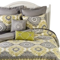 Medallion 8 Piece Bedding Set - Green