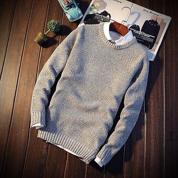 Striped Sweater Men Slim Fit Sweaters Christmas Mens Zipper Pullover 2017 Merino Wool Turtleneck Jerseys For Jumpers Knitted m05