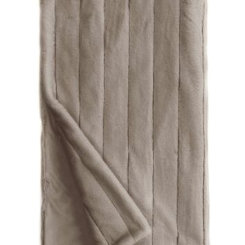 Posh Mink Greige Throw by Fabulous Furs