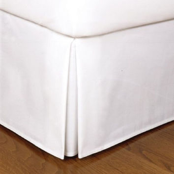 Levinsohn Easy-Care Tailored Microfiber Bedding Bed Skirt Full White