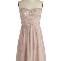 ModCloth Pastel Mid-length Strapless A-line The Best You Can Bead Dress