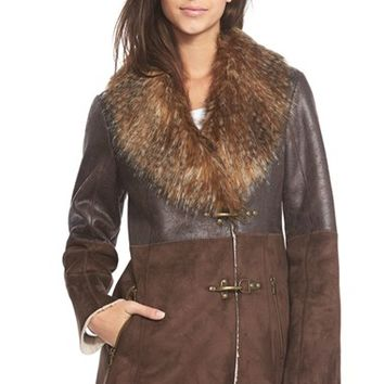 Women's Jessica Simpson Faux Shearling Coat,