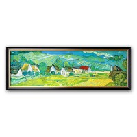Art.com ''Sunny Meadow in Arles, c.1890 (detail)'' Framed Art Print by Vincent van Gogh (Green)
