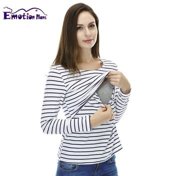Emotion Moms Fashion pregnancy Maternity Clothes Maternity Tops T-shirt Breastfeeding shirt Nursing Tops for pregnant women