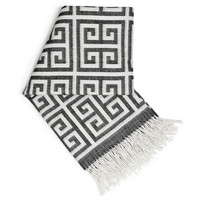 Jonathan Adler Greek Key Alpaca Throw