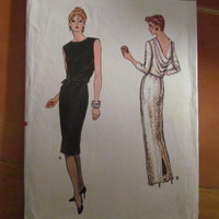 SALE 1980's Vogue Sewing Pattern, 8861! Size 12, Women's, Devant, Evening Gown, Dress.