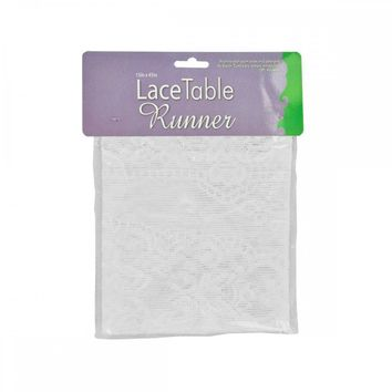 White Lace Table Runner GM810