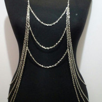 New Arrival Fashion Jewelry Punk Style Multilayer Tassel Body Chain Link Chain Belly Waist Women Accessries Necklace