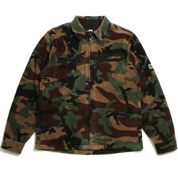 Polar Fleece Full Zip Jacket Camo