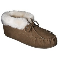 Women's Corene Genuine Suede Bootie Slipper - Tan