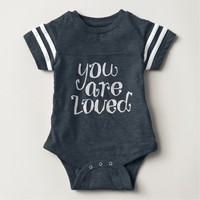You Are Loved Hand Lettering art Baby Bodysuit