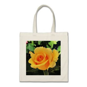 Bright Yellow Rose Tote Bag