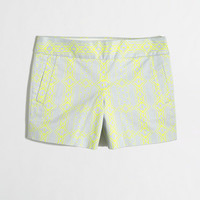 "Factory 4"" printed stretch chino short - novelty - FactoryWomen's Shorts - J.Crew Factory"