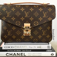 LV Shopping Leather  Women Crossbody Satchel Shoulder Bag