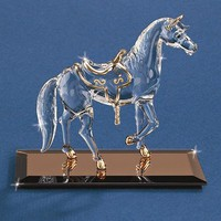 Handcrafted Horse Glass Figurine w/ 22k Gold Gilding