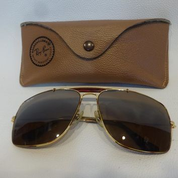 AUTHENTIC BAUSCH AND LOMB B & L RAY-BAN EXPLORER AVIATOR PILOT SUNGLASSES 62 14