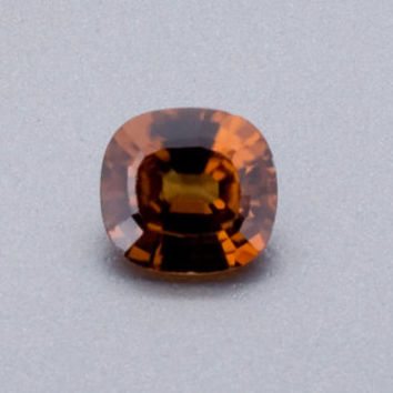Zircon: 1.17ct Cognac Cushion Shape Gemstone, Natural Hand Made Faceted Gem, Loose Precious Mineral, DIY Cocktail Ring Right-Hand Ring 20291