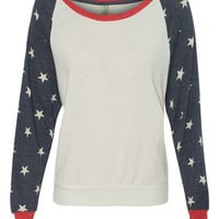 Stars Slouchy Pullover Top SEEN ON GIULIANA RANCIC | Icon Clothing, Inc.
