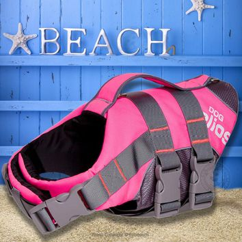 3 Color Waterproof Dog Life Jacket Summer Dog Coats 600D Oxford 3M Reflective Pet Vest Safety Clothes for Dogs S-XXL