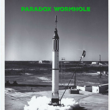 Vintage 1960 60's NASA Mercury-Redstone Black and White Photo Wall Art Decor Man Cave
