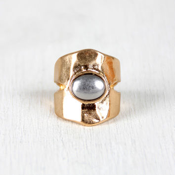 Prized Silver Stone Cutout Ring