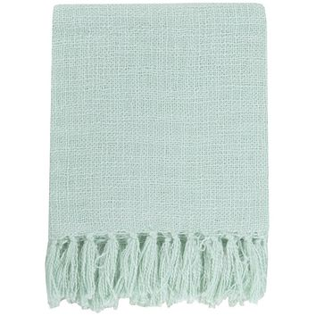Belize Aqua Throw Blanket