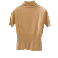 T002 70S VINTAGE Short Sleeve Knit Turtleneck