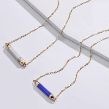 Peri Natural Stone Dainty Necklace