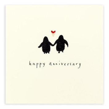 Anniversary Penguin Pencil Shavings Card