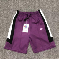Champion Summer new stylish retro embroidery shorts Purple