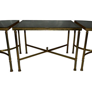 3-Piece Bronze Doré Coffee Table