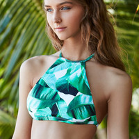 LA Hearts Tropical Strappy Back Cropped Bikini Top at PacSun.com