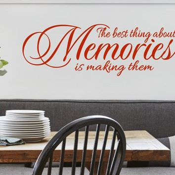 The Best thing about Memories is making them Family Love Vinyl W acb5f771a8