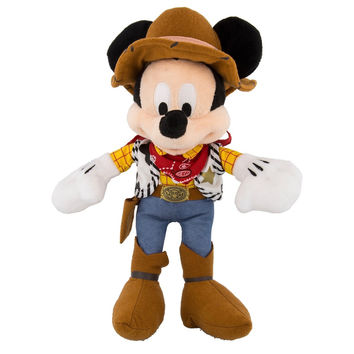 """disney parks toy story 12"""" mickey mouse as sheriff woody plush toy new with tag"""