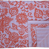 Cotton Kantha Quilt Indian Reversible Bedspread Bedding Throw Blanket kantha Bed Cover Picnic Throw