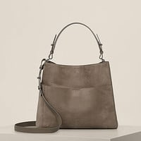 ALLSAINTS US: Womens Cooper East West Tote (Ash Grey)