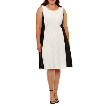 Ronni Nicole Sleeveless Fit & Flare Dress-Plus - JCPenney