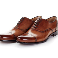 The Brando Semi-Brogue Oxford - Cognac