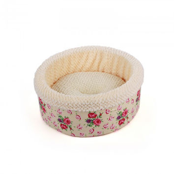 All For Paws Cat or Small Dog Bed Shabby Chic Round Bed