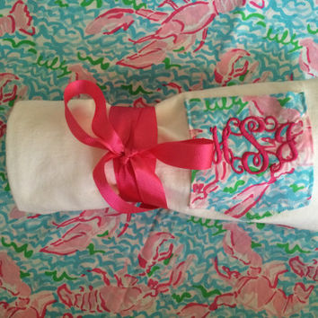 Lilly Pulitzer Monogrammed Short Sleeve Pocket Tee! The Essential Tee to any style!
