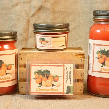 Clementine Scent Candles and Wax Melts, Fruit Scented Candle Wax, Highly Scented Candles and Wax Tarts, Fresh Sweet Scent