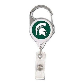 Michigan State Spartans  Premium Metal Retractable ID Badge Holder