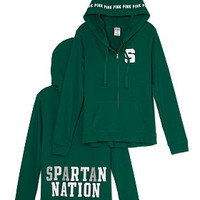 Michigan State University Perfect Full Zip Hoodie - PINK - Victoria's Secret