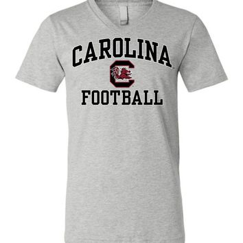 Official NCAA University of South Carolina Fighting Gamecocks USC COCKY SC Football Unisex V-Neck T-Shirt - SC004