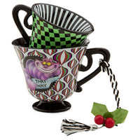 Disney Alice in Wonderland Tea Cup Ornament - The Cheshire Cat | Disney Store