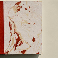 Marble Dip Dyed Coptic Stitched Handmade Notebook Journal
