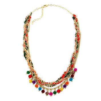 Kantha Carnival Woven Necklace